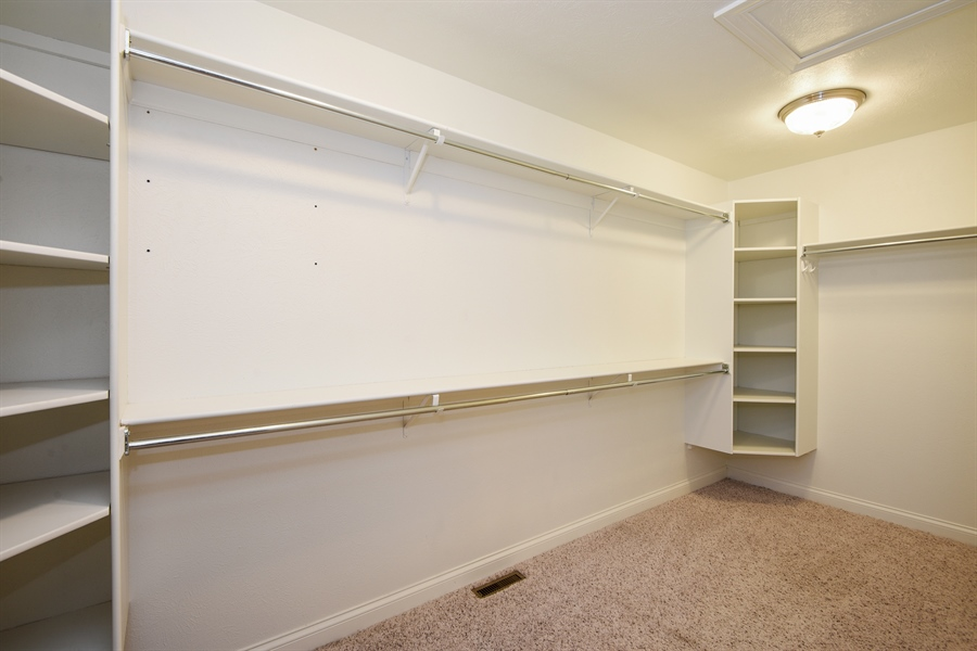 Real Estate Photography - 9871 Lakeview Drive, Berrien Springs, MI, 49103 - Master Bedroom Closet