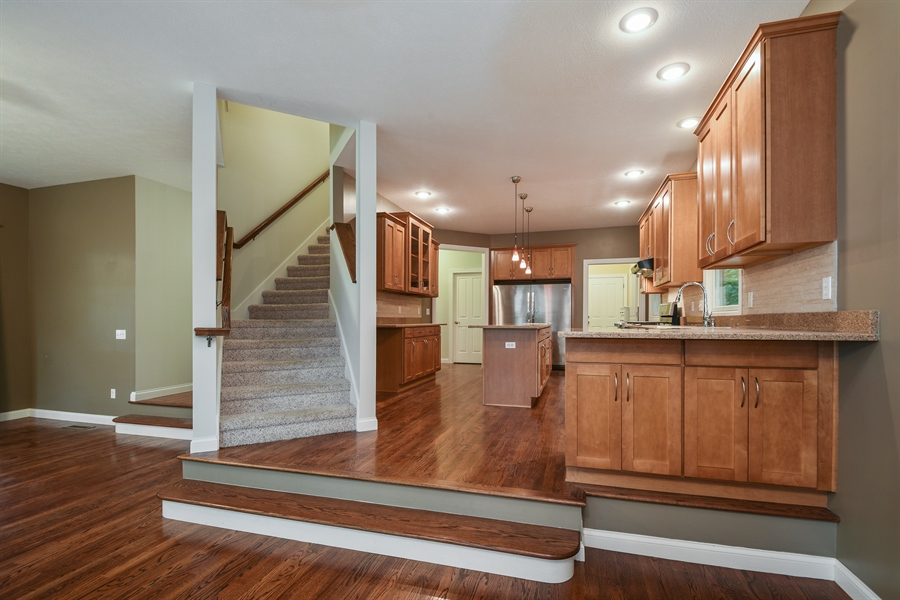 Real Estate Photography - 9871 Lakeview Drive, Berrien Springs, MI, 49103 - Kitchen / Living Room