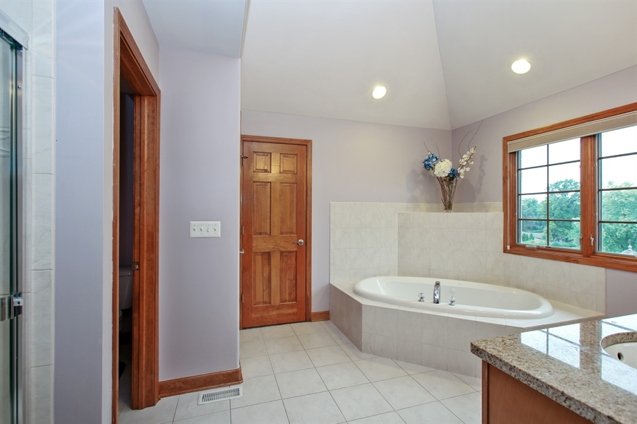 Real Estate Photography - 280 Forest Drive, Addison, IL, 60101 - Master Bathroom
