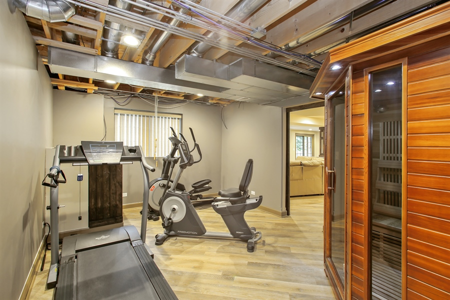 Real Estate Photography - 280 Forest Drive, Addison, IL, 60101 - Gym