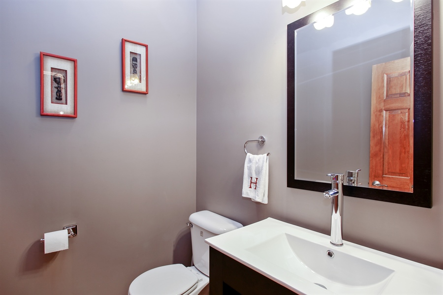 Real Estate Photography - 280 Forest Drive, Addison, IL, 60101 - Powder Room
