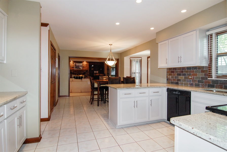 Real Estate Photography - 808 Biltmore Ct., Naperville, IL, 60563 - Family Room / Kitchen