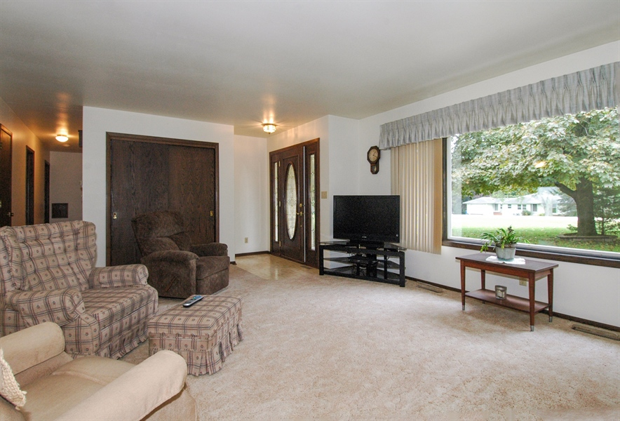 Real Estate Photography - W3872 German Road, Mayville, WI, 53050 - Living Room