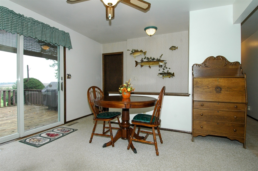 Real Estate Photography - W3872 German Road, Mayville, WI, 53050 - Dining Area