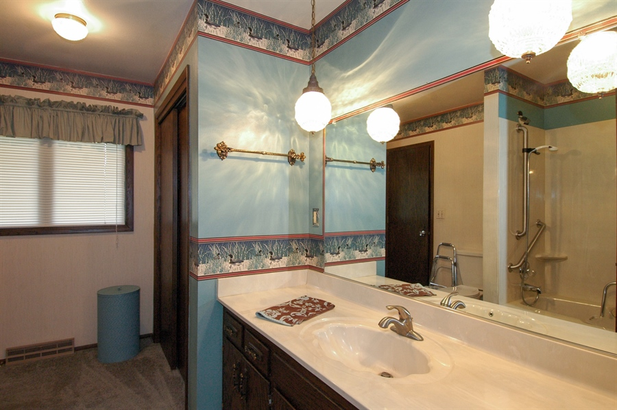 Real Estate Photography - W3872 German Road, Mayville, WI, 53050 - Bathroom