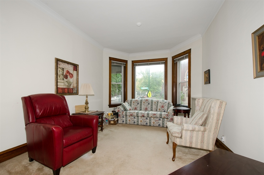 Real Estate Photography - 1225 W Addison, Chicago, IL, 60613 - Living Room