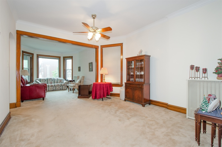 Real Estate Photography - 1225 W Addison, Chicago, IL, 60613 - Living Room / Dining Room
