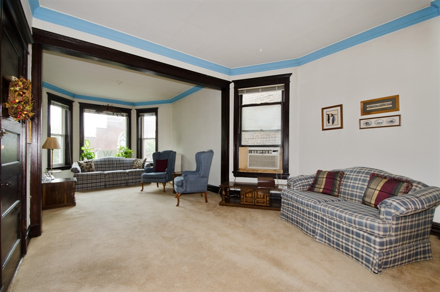Real Estate Photography - 1225 W Addison, Chicago, IL, 60613 - Living Room/Dining Room
