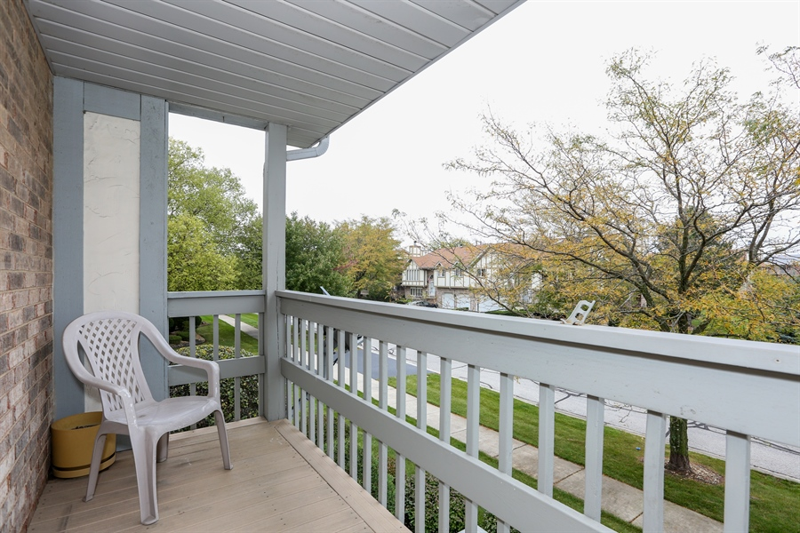 Real Estate Photography - 6742 Eagle Dr., Tinley Park, IL, 60477 - Balcony