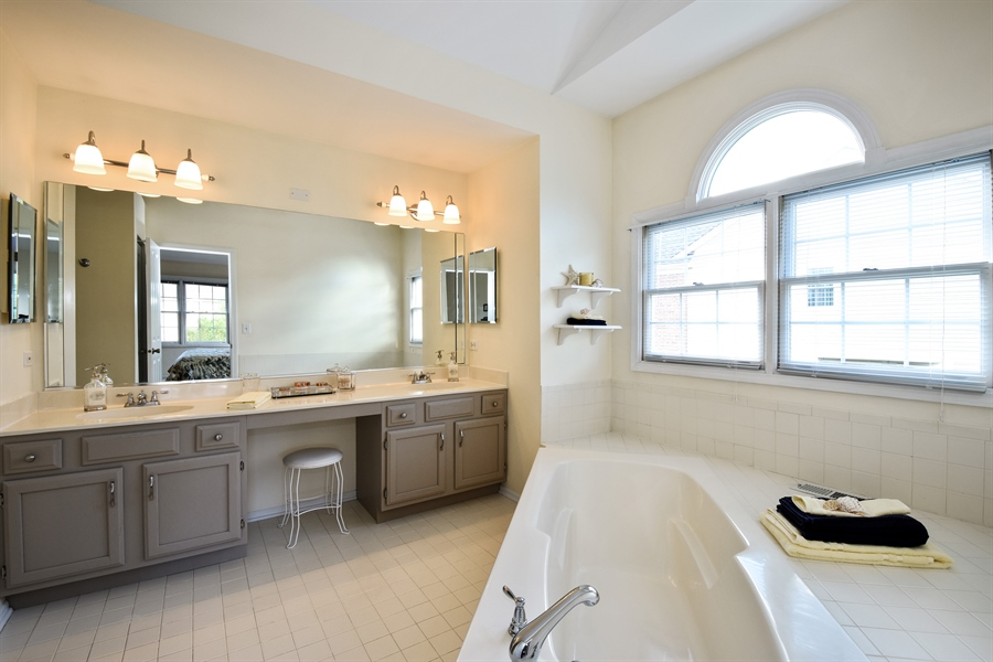 Real Estate Photography - 1230 Whitehall Court, Lake Zurich, IL, 60047 - Master Bathroom
