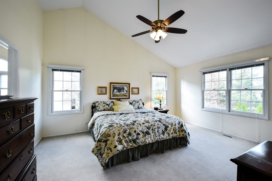 Real Estate Photography - 1230 Whitehall Court, Lake Zurich, IL, 60047 - Master Bedroom