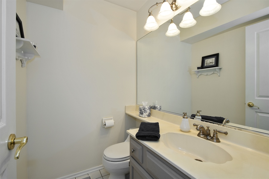 Real Estate Photography - 1230 Whitehall Court, Lake Zurich, IL, 60047 - Powder Room