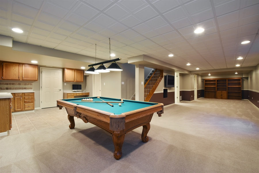 Real Estate Photography - 1230 Whitehall Court, Lake Zurich, IL, 60047 - Basement