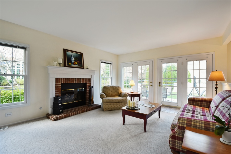 Real Estate Photography - 1230 Whitehall Court, Lake Zurich, IL, 60047 - Family Room