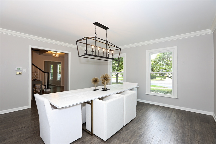 Real Estate Photography - 9 Hamill Lane, Clarendon Hills, IL, 60514 - Dining Room