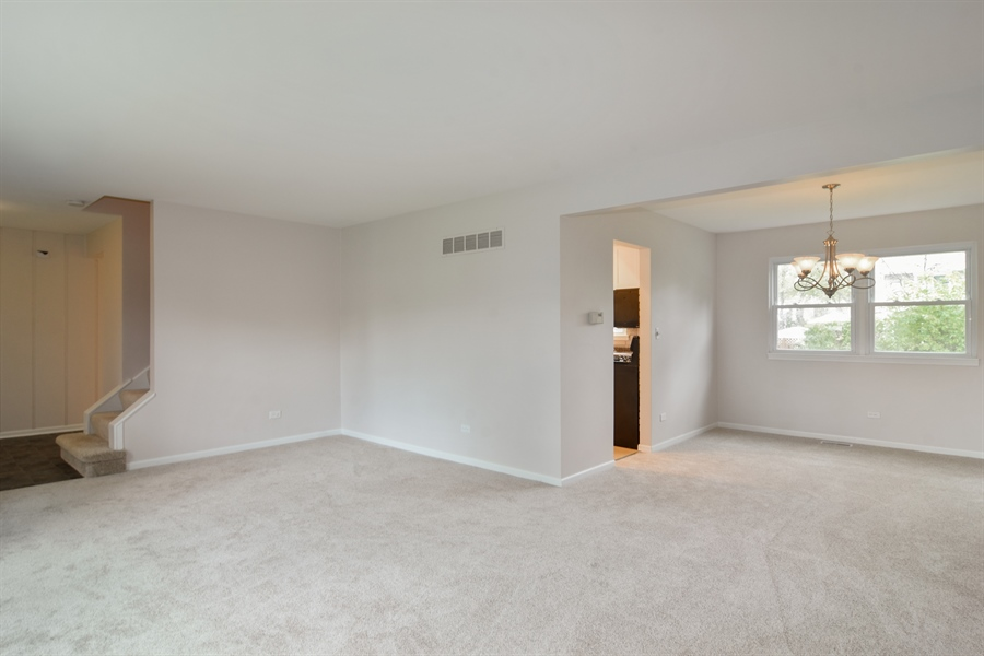 Real Estate Photography - 1111 N King Charles Ct,, Palatine, IL, 60067 - Living Room / Dining Room
