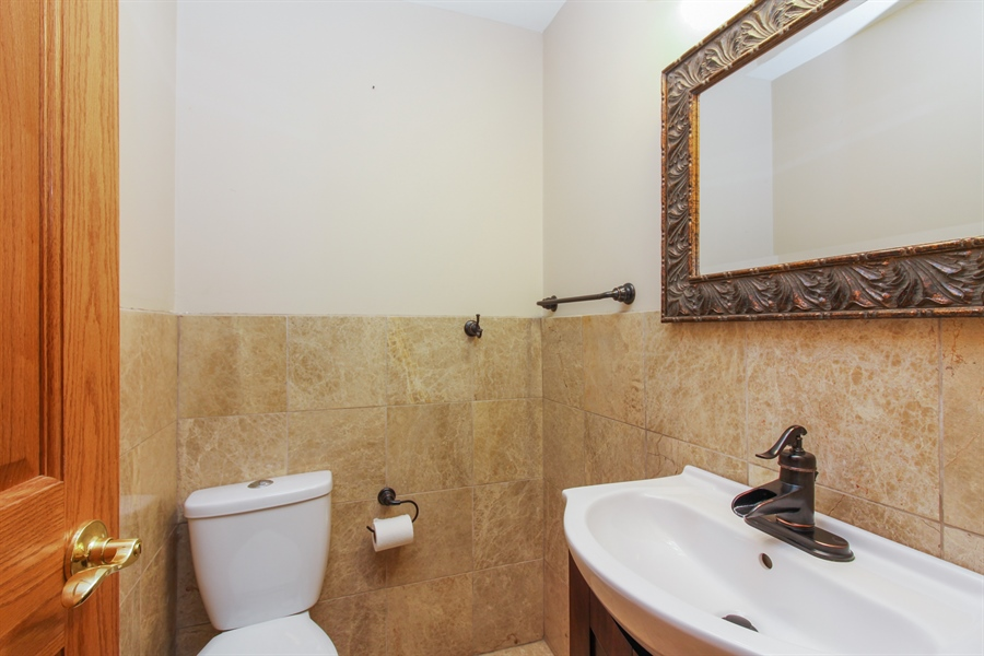Real Estate Photography - 1210 WESTMORE MEYERS, LOMBARD, IL, 60148 - Powder Room