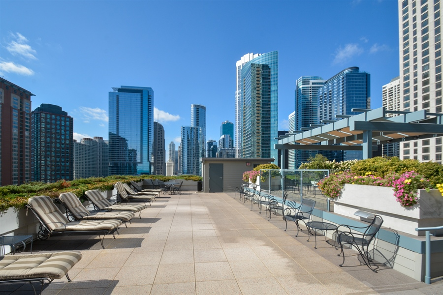 Real Estate Photography - 474 N Lake Shore Dr, 4504, Chicago, IL, 60611 - Terrace 2
