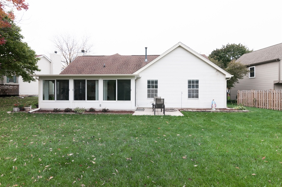 Real Estate Photography - 2082 Wildwood Ln., Hanover Park, IL, 60133 - Rear View
