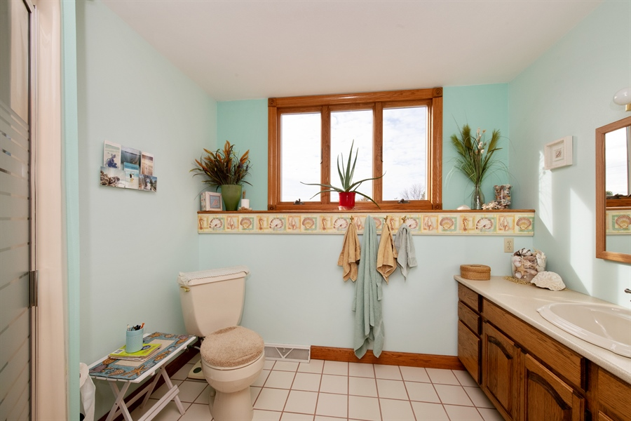 Real Estate Photography - W3341 Spring Drive, Campbellsport, WI, 53010 - 2nd Bathroom