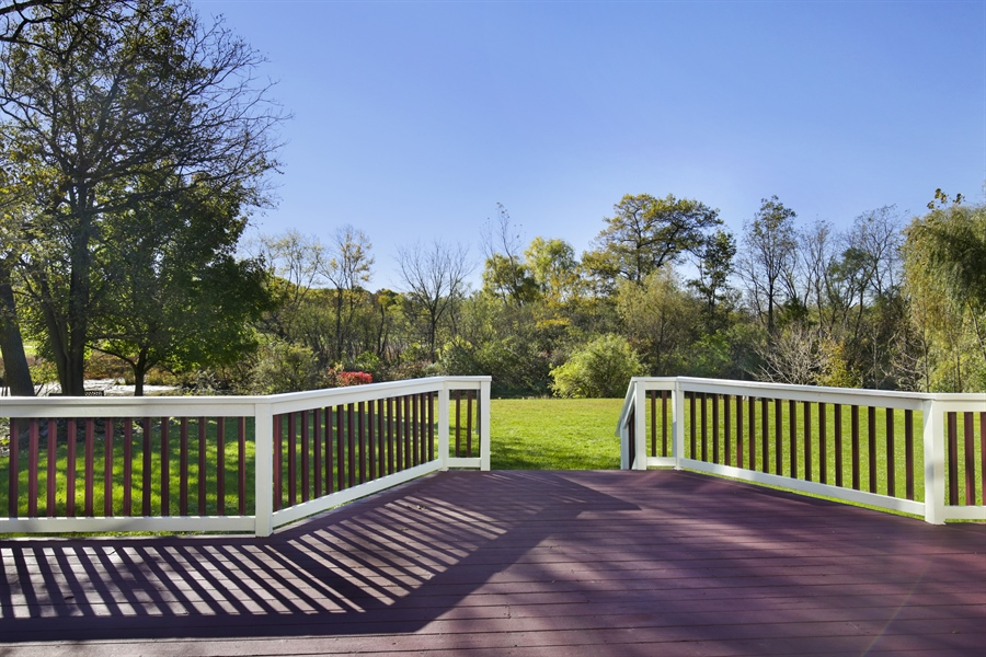 Real Estate Photography - 521 Ford LN, Bartlett, IL, 60103 - Deck