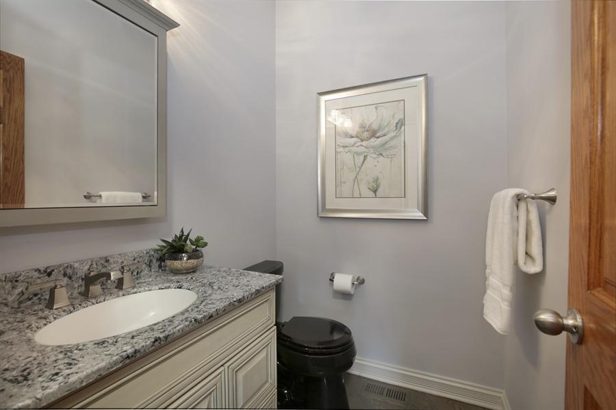 Real Estate Photography - 521 Ford LN, Bartlett, IL, 60103 - Half Bath