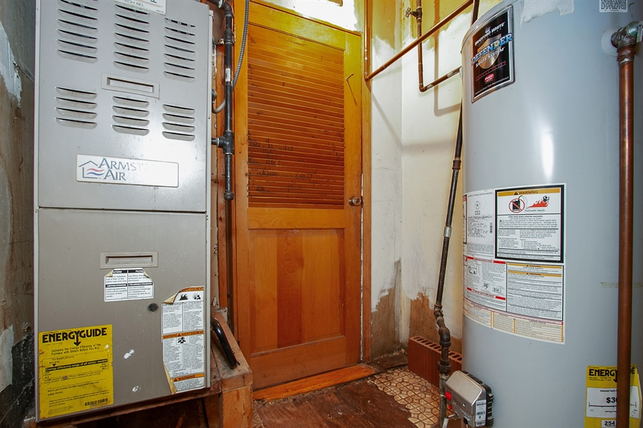 Real Estate Photography - 6638 S Seeley, Chicago, IL, 60636 - 2nd Floor Furnace Room