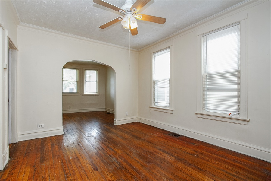 Real Estate Photography - 6638 S Seeley, Chicago, IL, 60636 - 1st Floor Living Room/Dining Room