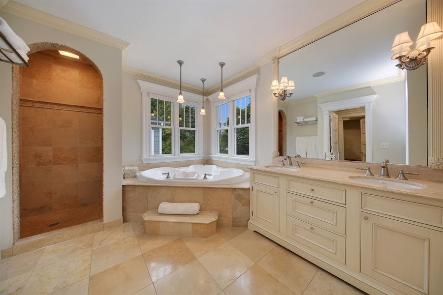Real Estate Photography - 4325 Grand Avenue, Western Springs, IL, 60558 - Master Bathroom