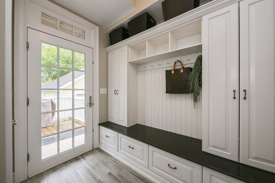 Real Estate Photography - 4325 Grand Avenue, Western Springs, IL, 60558 - Mudroom