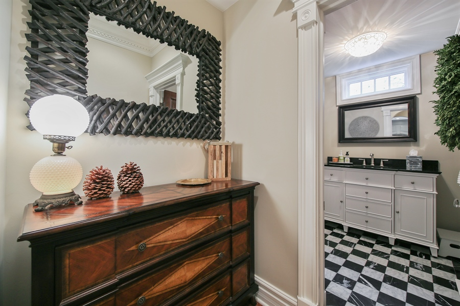 Real Estate Photography - 4325 Grand Avenue, Western Springs, IL, 60558 - Powder Room