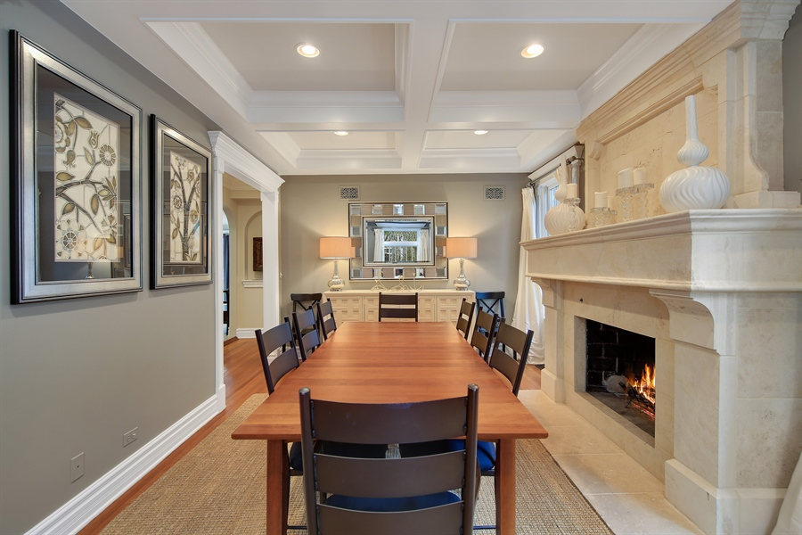 Real Estate Photography - 4325 Grand Avenue, Western Springs, IL, 60558 - Dining Room