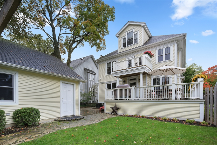 Real Estate Photography - 4325 Grand Avenue, Western Springs, IL, 60558 - Rear View