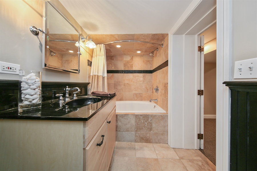 Real Estate Photography - 4325 Grand Avenue, Western Springs, IL, 60558 - Basement Bathroom