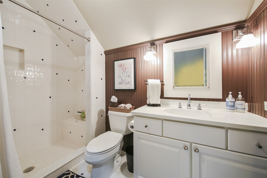 Real Estate Photography - 4325 Grand Avenue, Western Springs, IL, 60558 - Private Bathroom for Bedroom 4