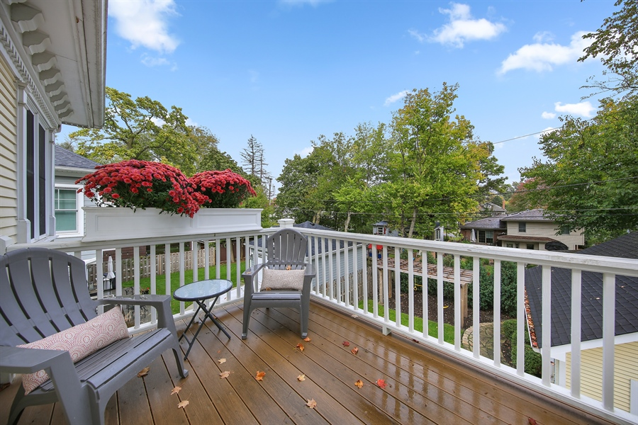 Real Estate Photography - 4325 Grand Avenue, Western Springs, IL, 60558 - Balcony