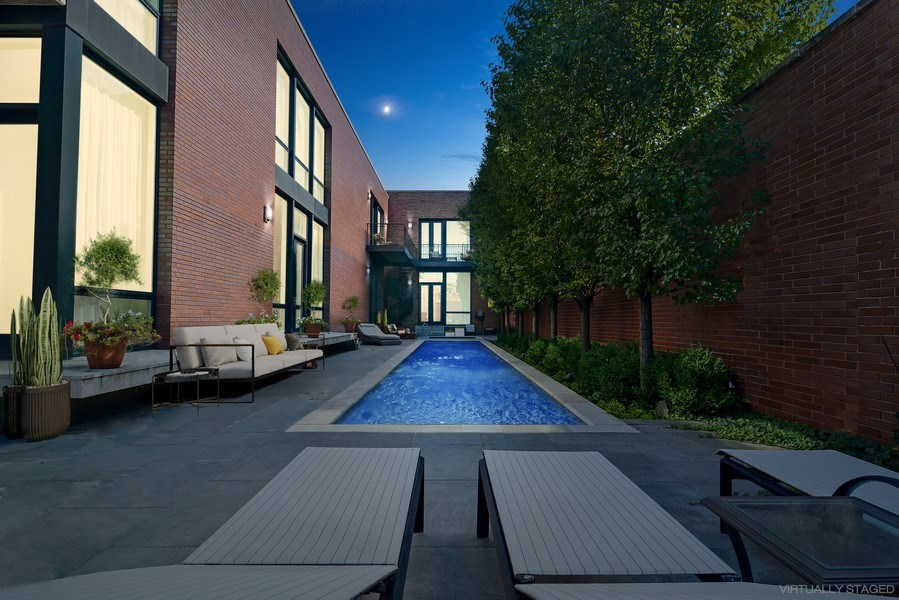 Real Estate Photography - 520 N Armour, Chicago, IL, 60642 - Heated Pool
