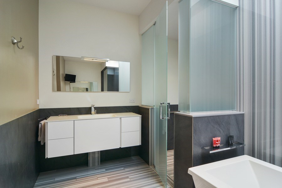 Real Estate Photography - 520 N Armour, Chicago, IL, 60642 - Master Bathroom