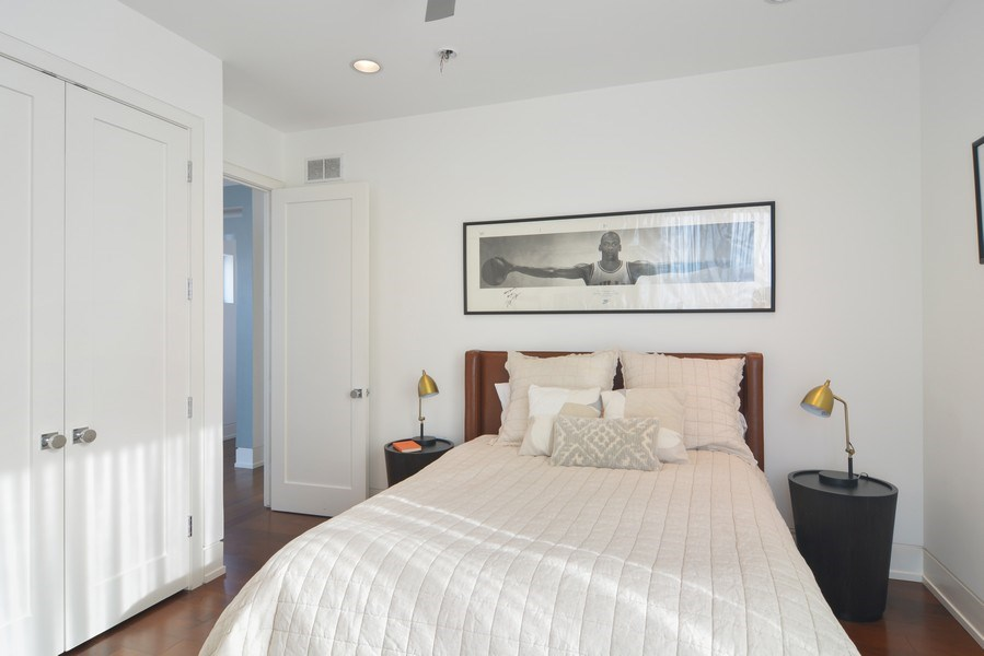Real Estate Photography - 520 N Armour, Chicago, IL, 60642 - 3rd Bedroom
