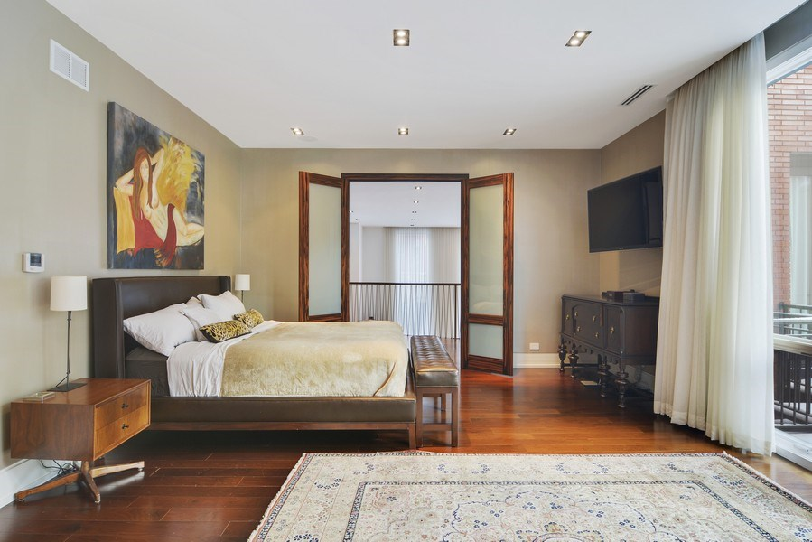 Real Estate Photography - 520 N Armour, Chicago, IL, 60642 - Master Bedroom