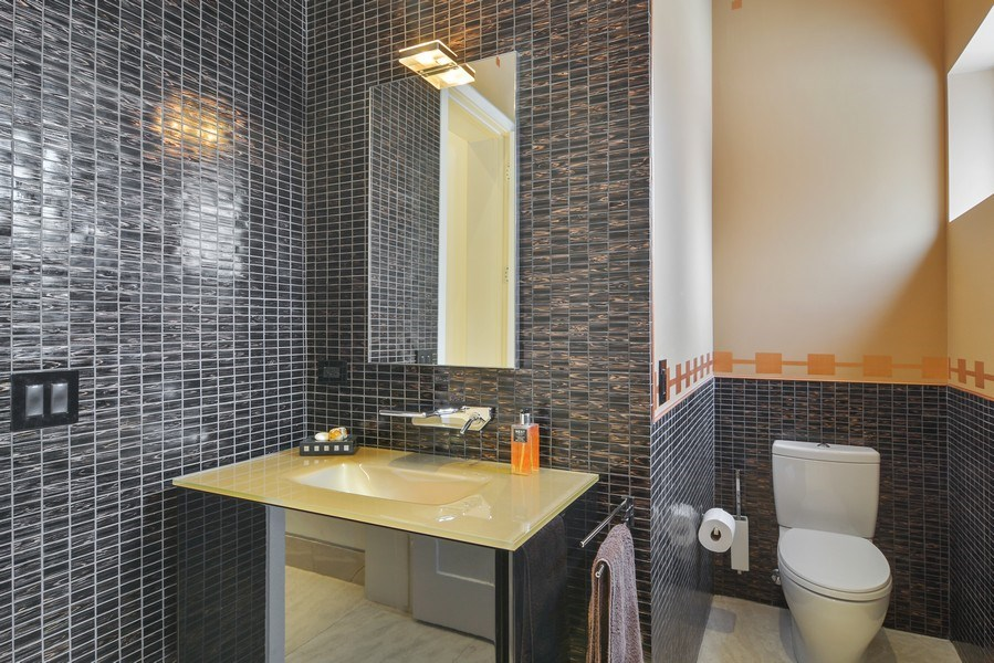 Real Estate Photography - 520 N Armour, Chicago, IL, 60642 - Powder Room