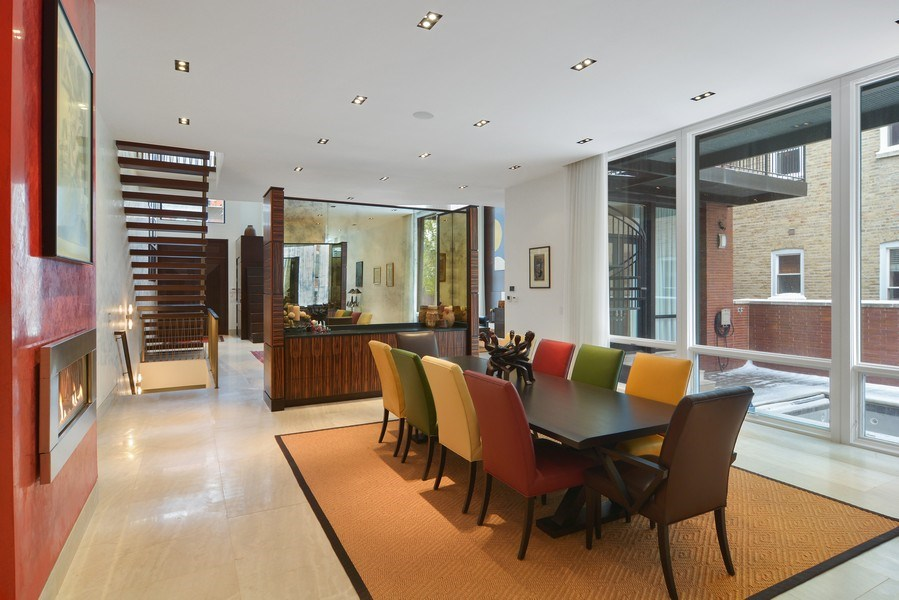 Real Estate Photography - 520 N Armour, Chicago, IL, 60642 - Dining Area