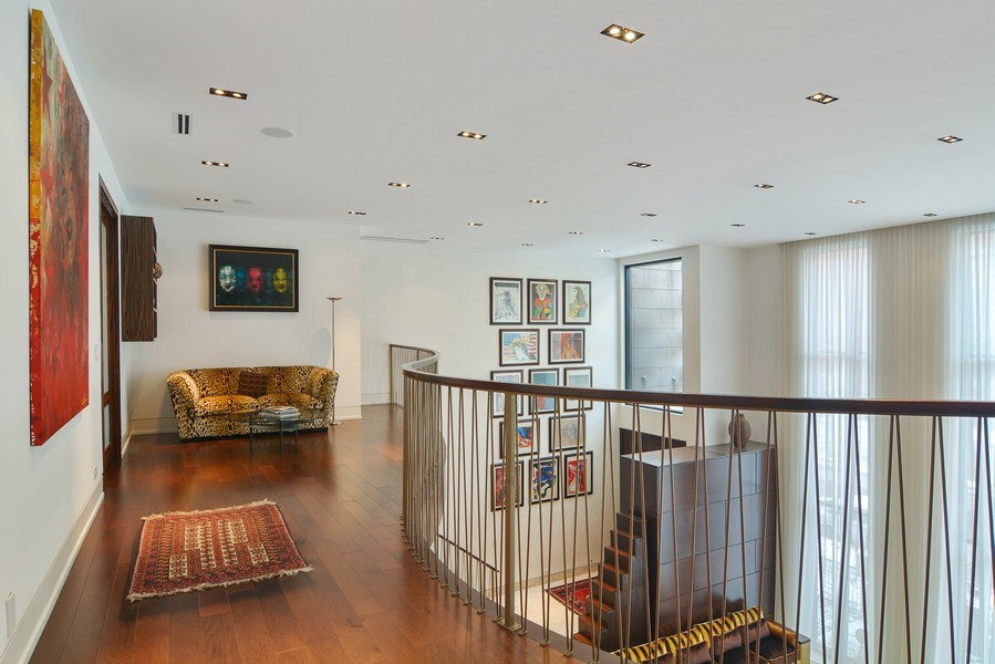 Real Estate Photography - 520 N Armour, Chicago, IL, 60642 - Loft Outside Master Bedroom