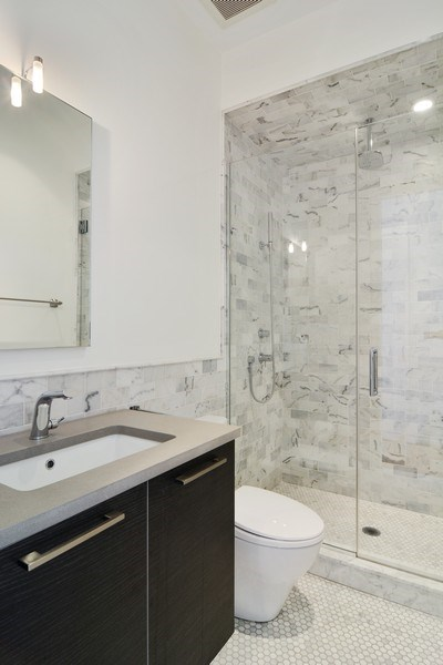 Real Estate Photography - 520 N Armour, Chicago, IL, 60642 - 2nd Bathroom