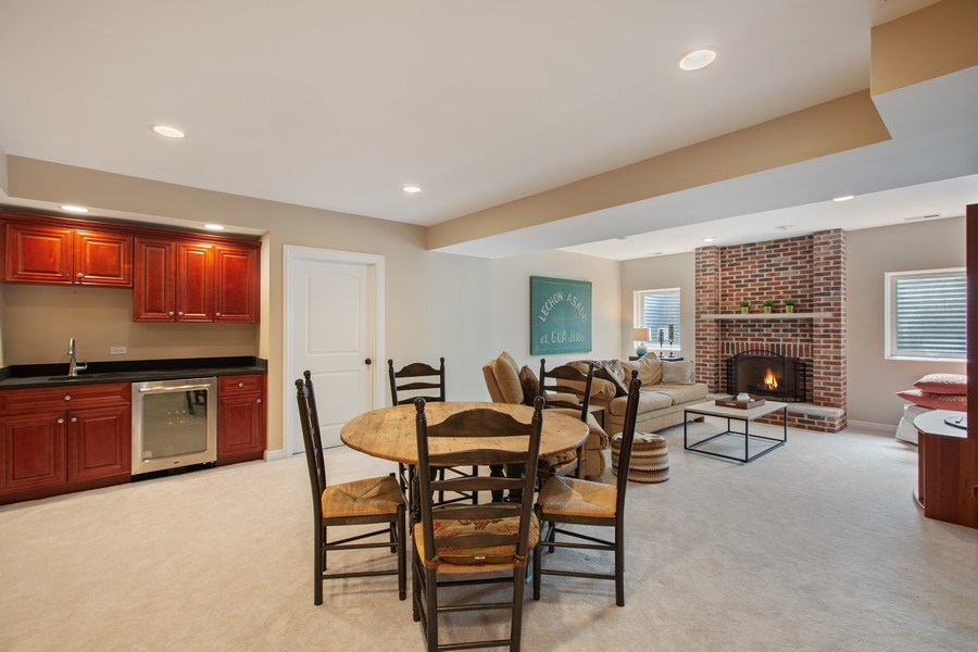Real Estate Photography - 937 Kenyon St, Downers Grove, IL, 60516 - Lower Level Rec Room
