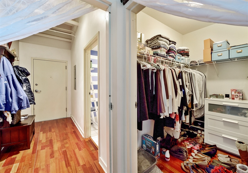 Real Estate Photography - 4015 N Milwaukee Ave, Unit 307, Chicago, IL, 60641 - Closet