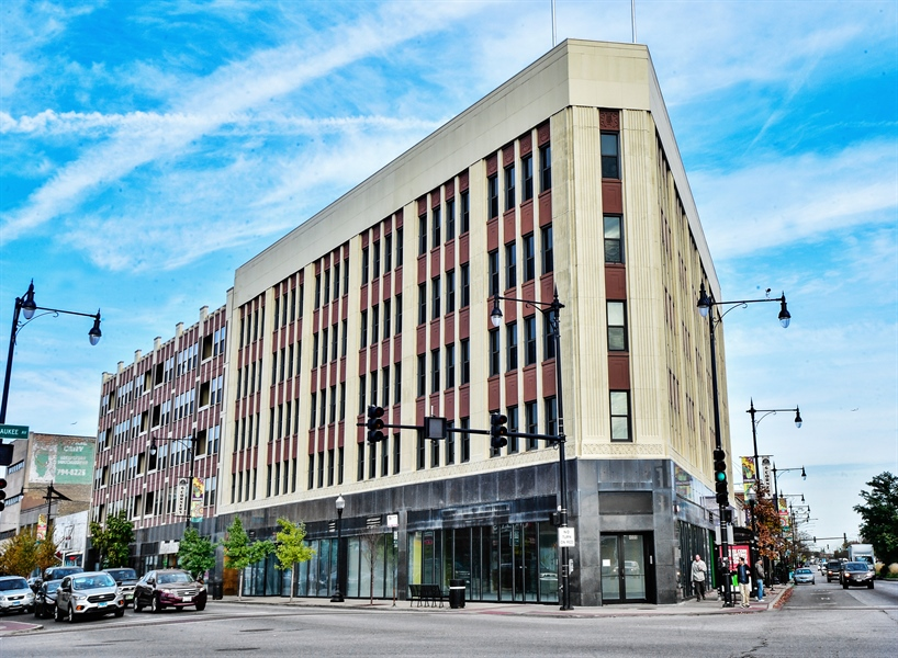 Real Estate Photography - 4015 N Milwaukee Ave, Unit 307, Chicago, IL, 60641 - Front View