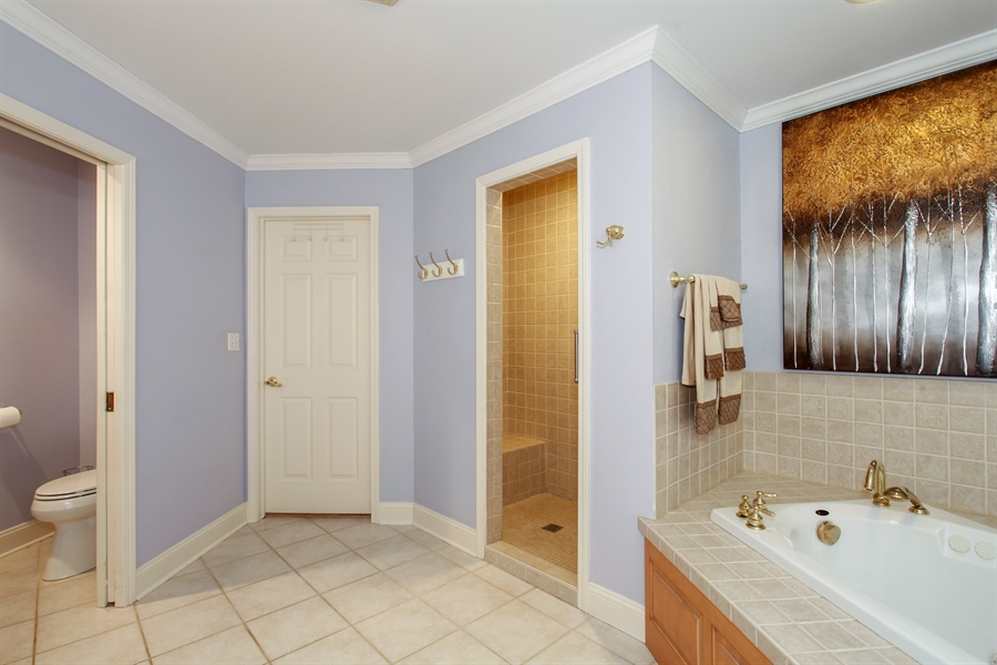 Real Estate Photography - 65 Harris, Clarendon Hills, IL, 60514 - Master Bathroom