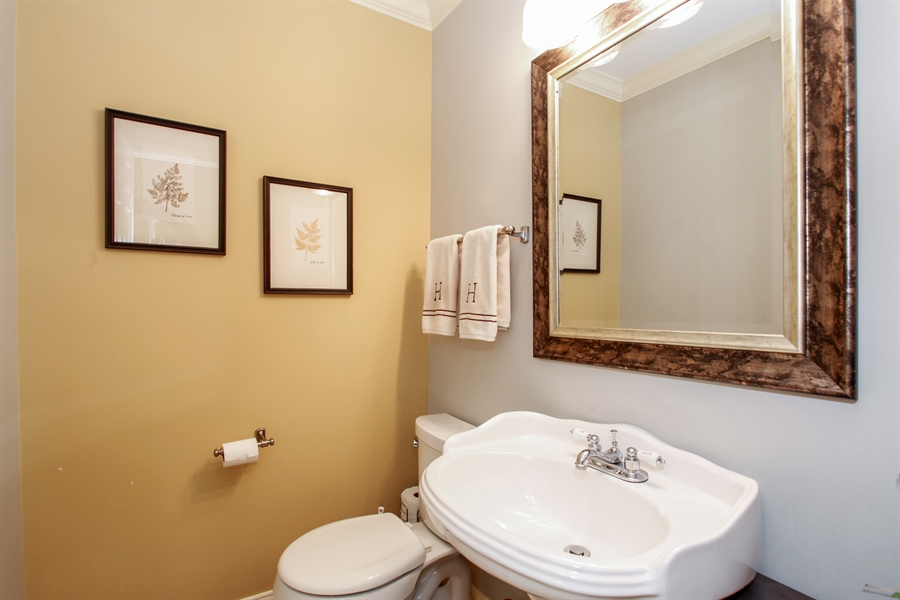 Real Estate Photography - 65 Harris, Clarendon Hills, IL, 60514 - Half Bath