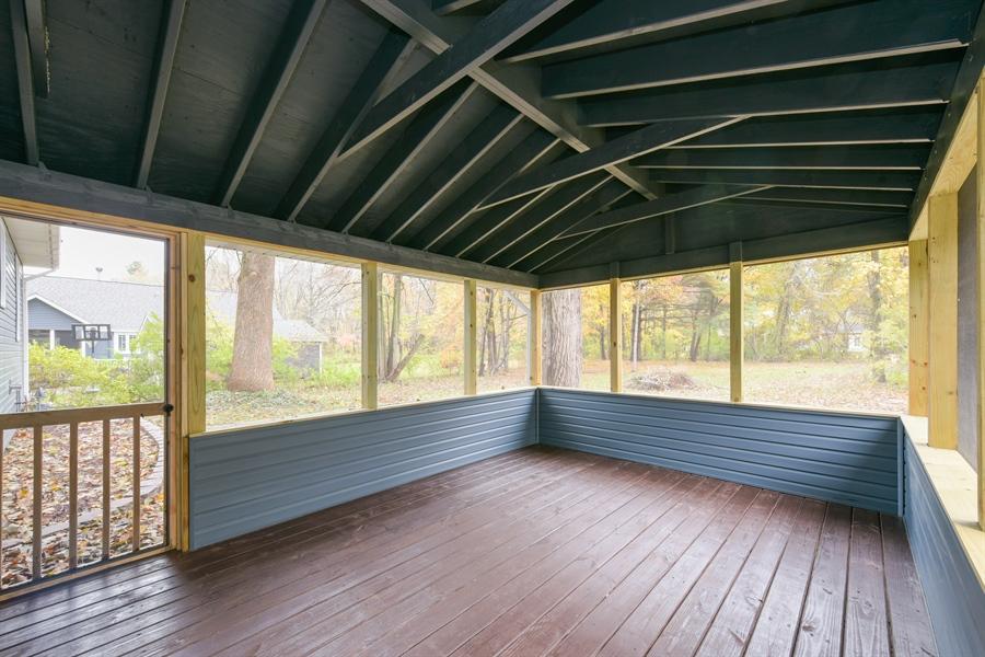 Real Estate Photography - 16013 Prusa Road, New Buffalo, MI, 49117 - Porch